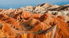 Kolorowa Danxia landform grupa Obrazy Stock