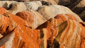 Kolorowa Danxia landform grupa Zdjęcie Royalty Free