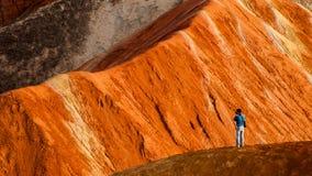 Kolorowa Danxia landform grupa Fotografia Royalty Free