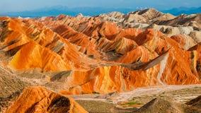 Kolorowa Danxia landform grupa Zdjęcia Royalty Free
