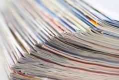 kolorowa dokumentów magazynów sterta Zdjęcia Stock