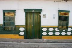 Kolorowa domowa fasada zdjęcia stock