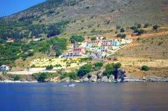 Kolorowa domu grka wyspa Obrazy Royalty Free