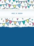 Kolorowa doodle chorągiewka zaznacza vertical drzejącą ramę Fotografia Royalty Free