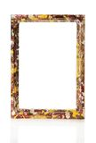 Kolorowa drewniana rama dla obrazków lub fotografii royalty ilustracja