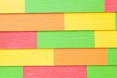 Kolorowa drewniana tekstura Zdjęcie Stock