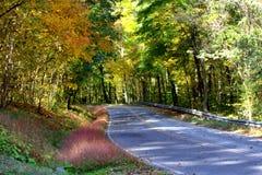 Kolorowa droga w jesieni Zdjęcia Royalty Free