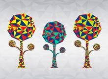 Kolorowa Drzewna wieloboka wektoru ilustracja Zdjęcie Royalty Free