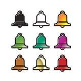 Kolorowa dzwonkowa różnica odizolowywająca na bielu ilustracja wektor