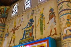 Kolorowa Egipska świątynia Obrazy Royalty Free