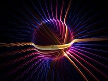 kolorowa energetyczna kula ziemska Zdjęcie Royalty Free