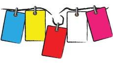 kolorowa etykietka Zdjęcie Stock