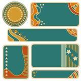 Kolorowa etykietka, etykietka lub sztandar kolekcja, Zdjęcia Royalty Free