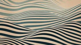 Kolorowa falowa chy? p?tli animacja Futurystyczny geometryczny linia wzor?w ruchu t?o ?wiadczenia 3 d 4k UHD ilustracja wektor