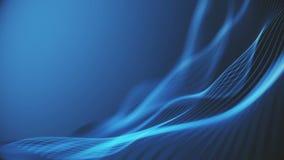 Kolorowa falowa gradientowa animacja Przysz?o?ciowy geometryczny wzoru ruchu t?o ilustracja wektor