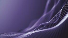 Kolorowa falowa gradientowa animacja Przysz?o?ciowy geometryczny wzoru ruchu t?o ilustracji