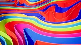Kolorowa falowa gradientowa animacja Przysz?o?ciowy geometryczny wzoru ruchu t?o ?wiadczenia 3 d zdjęcie wideo