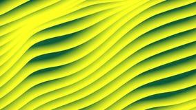 Kolorowa falowa gradientowa pętli animacja Przyszłościowa geometryczna przekątna wykłada wzoru ruchu tło świadczenia 3 d 4k UHD royalty ilustracja