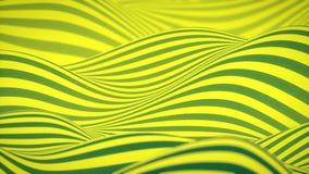 Kolorowa falowa p?tli animacja Futurystyczny geometryczny horyzontalnych linii wzor?w ruchu t?o ?wiadczenia 3 d 4k UHD royalty ilustracja