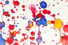 Kolorowa farba bryzga artystycznego wzór, odgórny widok zdjęcie royalty free
