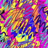 Kolorowa farba splatters bezszwowego wzór Obraz Royalty Free
