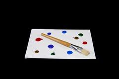 Kolorowa farby paleta na Odosobnionym Czarnym tle Fotografia Royalty Free