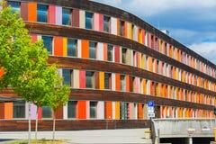 Kolorowa fasadowa Federacyjna środowisko agencja w Dessau zdjęcia royalty free