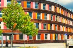 Kolorowa fasadowa Federacyjna środowisko agencja w Dessau zdjęcie stock