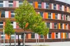 Kolorowa fasadowa Federacyjna środowisko agencja w Dessau zdjęcie royalty free