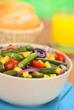 Kolorowa fasolki szparagowej sałatka Obrazy Stock