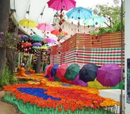 Kolorowa festiwal farba 3d koloru wizerunek odpłacający się parasolowym obrazy royalty free