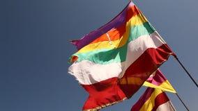Kolorowa flaga w świątyni zbiory