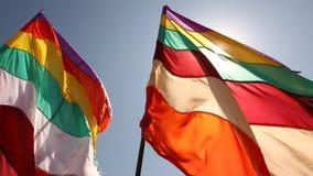 Kolorowa flaga w świątyni zdjęcie wideo