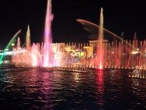 kolorowa fontanny wody Zdjęcie Royalty Free