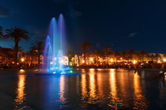 kolorowa fontanny wody Fotografia Royalty Free