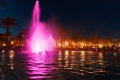 kolorowa fontanny wody Obrazy Royalty Free