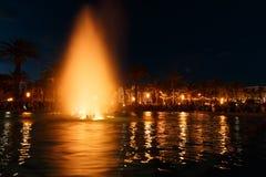kolorowa fontanny wody Zdjęcia Royalty Free