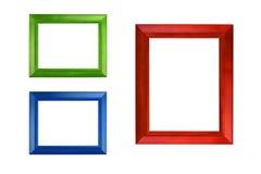 Kolorowa fotografii rama odizolowywa na bielu obrazy stock