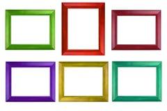 Kolorowa fotografii rama odizolowywa na bielu zdjęcie royalty free
