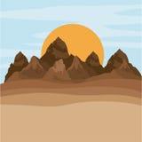 Kolorowa góra krajobrazowy projekt Zdjęcia Stock