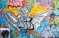 kolorowa graffiti ścianę Obraz Stock