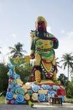 Kolorowa Guan Yu statua przy plenerowym w chińskiej świątyni zdjęcie royalty free
