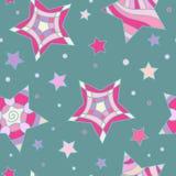 Kolorowa gwiazdy i okręgu tekstura Obraz Stock