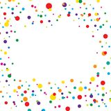 Kolorowa i kreatywnie tło szablonu wektoru ilustracja Fotografia Royalty Free