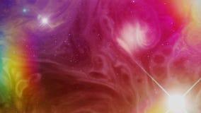 Kolorowa i Psychodeliczna Astronautyczna mgławica royalty ilustracja