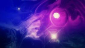 Kolorowa i Psychodeliczna Astronautyczna mgławica i słońce ilustracji
