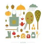 Kolorowa ikony jesień Obrazy Royalty Free