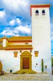 Kolorowa ilustracja kościół w Granada, Hiszpania zdjęcie stock