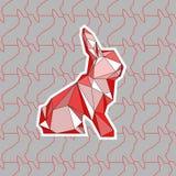 Kolorowa ilustracja poligonal królik Zdjęcie Stock