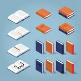 Kolorowa Isometric Książkowa kolekcja royalty ilustracja